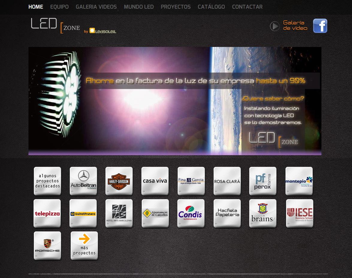 Web para Led Zone