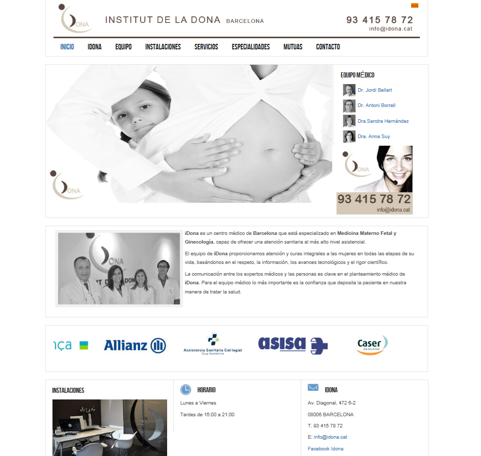 Web del instituto Idona Barcelona